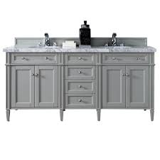 james martin signature vanities brittany 72 in w double vanity in urban gray with marble
