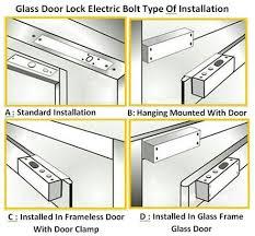 electric bolt glass door em lock with