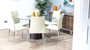 enchanting glass dining table and chairs domino glass dining table round in clear with 4 dining