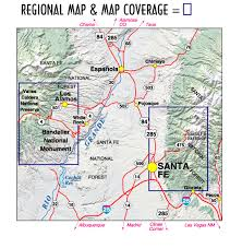 Santa Fe Bandelier Los Alamos Nm Topographic Recreation