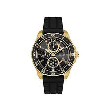 guess watches for men new used guess men s jet 46mm black rubber band steel case quartz watch w0798g3