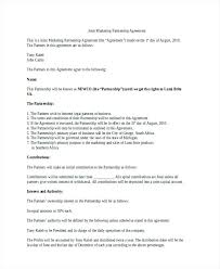 Partnership Agreement Template Marketing Chaseevents Co
