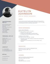 Modern Resume Design Inspiration Blue And Brick Red Geometric Modern Resume Templates By Canva