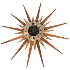 office large size floor clocks wayfair. Mid Century Modern Clocks 122 For Sale At 1stdibs Starburst Wall Clock By Welby Division Elgin Office Large-size Large Size Floor Wayfair O