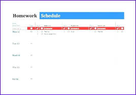 School Schedule Template Best Homework Schedule Maker Template Planning Sundaydriverco