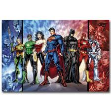 justice league comic poster