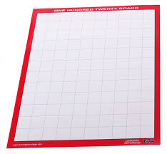 Number Chart 1 120 Blank Laminated 1 120 Number Boards Set Of 10 7296