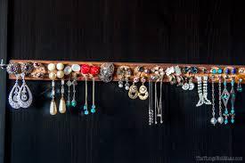 how to make the wine cork earring holder display organizer