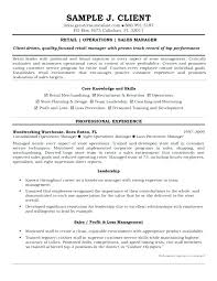 Sales Supervisor Resume Retail Supervisor Resume Sales Management