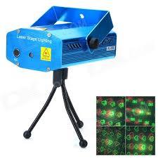 xl s d09 mini sound control red green laser stage light w tripod blue