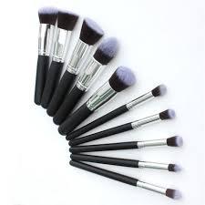 10 piece professional kabuki makeup brush set