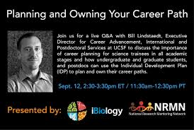 live q a planning your own career path ibio idp q a