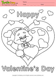Teddy Bear With Heart Coloring Sheet Turtle Diary