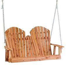 cedar adirondack porch swing from