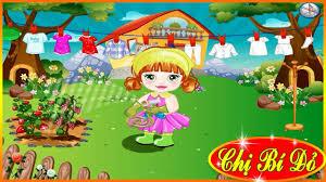 ♥ Trò chơi dọn dẹp ♥ Chị bí đỏ hát Vườn cây của Ba - Bé Na giặt đồ và tưới  cây | Cửa sổ, Bí đỏ, Trò chơi