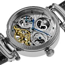 stuhrling original men s 353a 33152 special reserve emperor stuhrling original men s 353a 33152 special reserve emperor magistrate automatic skeleton dual time zone silver tone watch
