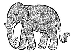 New Intricate Elephant Mandala Coloring Pages Adult Printable For