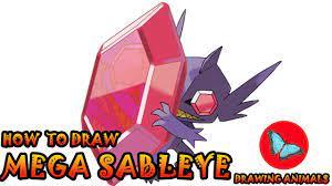 How To Draw Mega Sableye Pokemon