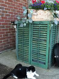 Lattice Air Conditioner Screen Shabby Shutters Hiding The Air Conditioner Shabby Drawer Cut Down