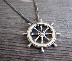 men s necklace men s nautical necklace men s silver necklace mens jewelry necklaces for men jewelry for men gift for him