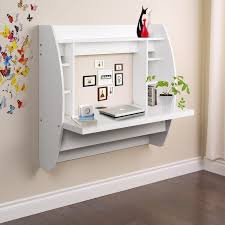 wall office desk. Charming Wall Mount Office Desk For Your Design: Wonderful White Wood