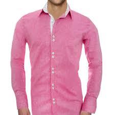 Mens Design Dress Shirts Pink Designer Dress Shirts