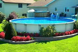 above ground pool landscape design above ground pools swimming pool and hot tub above ground swimming pool landscape designs