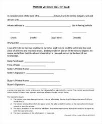 Downloadable Free Auto Bill Of Sale Form Vehicle Trade
