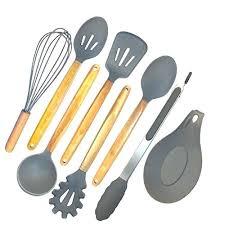 cookware utensil set home silicone cooking utensils set 8 piece kitchen utensil set natural acacia wooden cookware utensil set kitchen