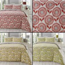 sentinel ada scandi fl duvet quilt cover bedding set spice red yellow green
