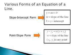 2 slope intercept form point slope form