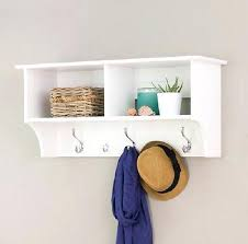 Coat Racks And Hooks Entryway Shelf With Hooks White White Hanging Entryway Shelf Wall 86