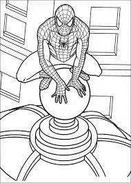 Spiderman Kleurplaat
