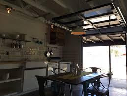 garage door as kitchen window