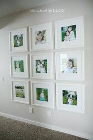 white frames on wall