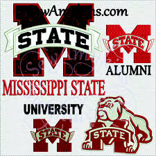 Mississippi State University Embroidery Designs Msu Embroidery Design 6 Files Mississippi State Alumni