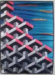 Best 25+ 3d quilts ideas on Pinterest | Quilts, Queen quilt and ... & Optical Illusion Quilt Adamdwight.com