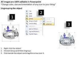 Ppt Illustration Of 3d Pie Org Chart Powerpoint 2007 With