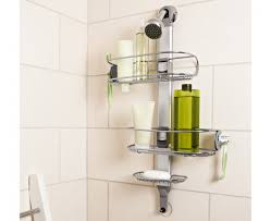 simplehuman | adjustable stainless steel shower caddy organizer