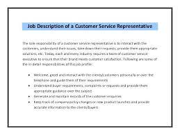 Customer Service Advisor Resume Sample Job Description Care