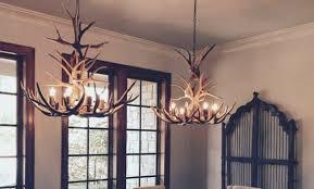 faux antler chandelier pottery barn hampton bay antler chandelier