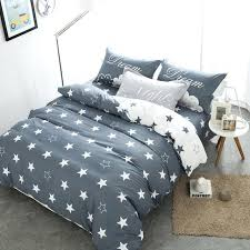 stars duvet cover white and grey bedding sets cotton queen new design flat star print