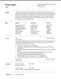 Line Cook Cv Cook Resume Sample As Resume Objective Samples