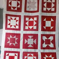 97 best Quilts made with the Accuquilt Go Cutter images on ... & Red & White quilt top using Accuquilt Go Cutter. Adamdwight.com
