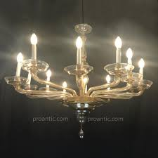 italian venetian glass chandelier 1940 circa twelve light by cristalleria murano