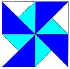 Double Pinwheel Quilt Block, find out how with my Free block ... & Double Pinwheel Quilt block Pattern Adamdwight.com