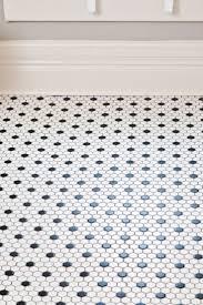 Fine Black And White Tile Floor Deserving Akron Rehab Addict Makeover For Design