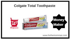Walgreens Free Moneymaker Colgate Toothpaste Through 5 19 Ftm