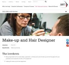 another i found with information on a hair and makeup designer but in the theatre industry