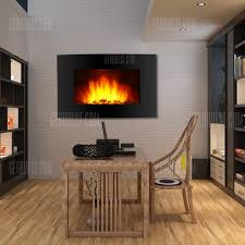 wall mount electric fireplaces. (ELECTRIC FIREPLACE USA) Finether 1500W Adjustable Wall Mounted Electric Fireplace Heater With 3D Patented Mount Fireplaces